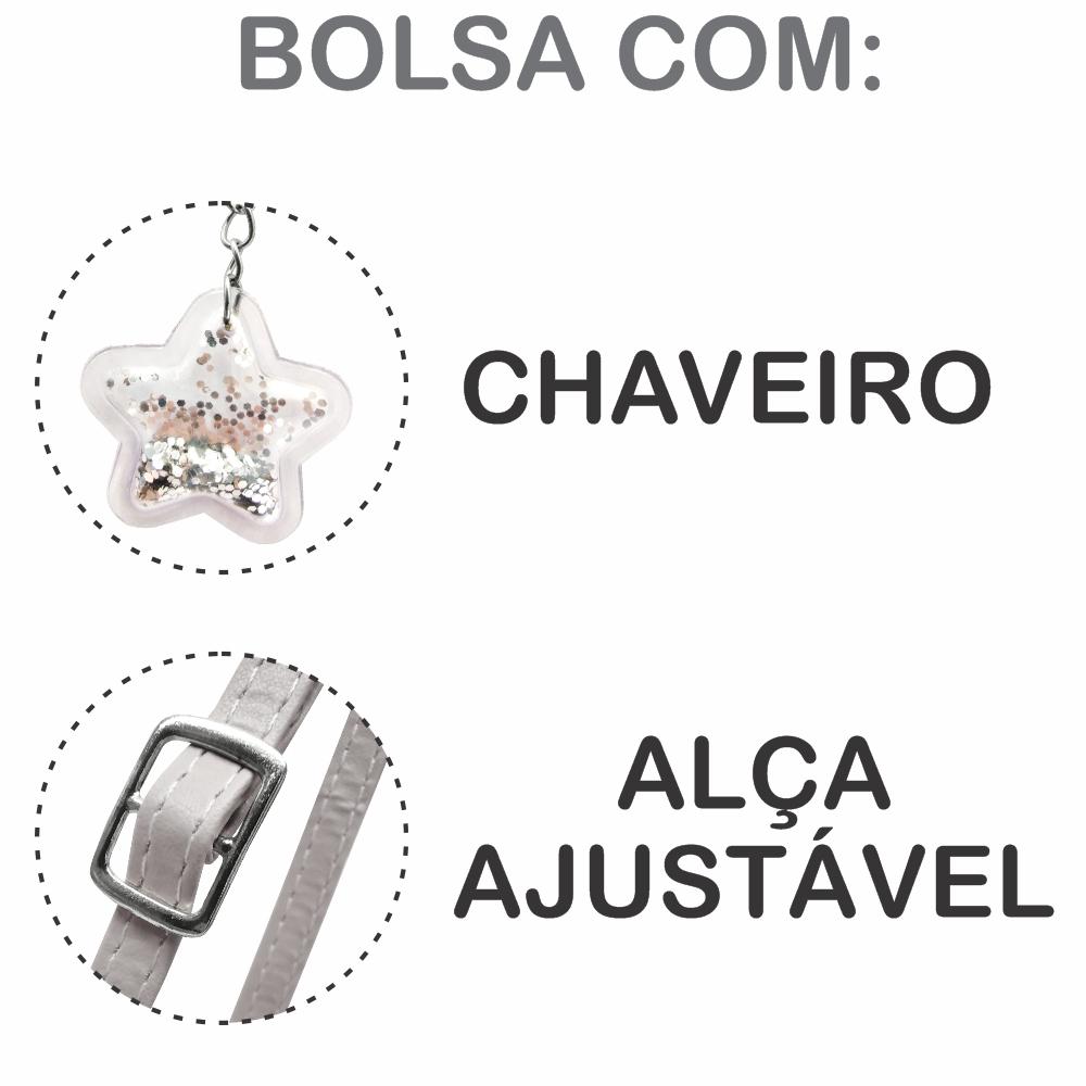 Kit Infantil Bolsa e Estojo Degradê Estrelas, Magicc