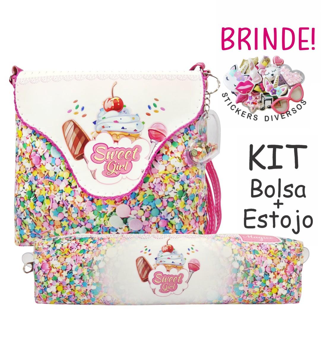 Kit Infantil Bolsa e Estojo Docinhos, Magicc