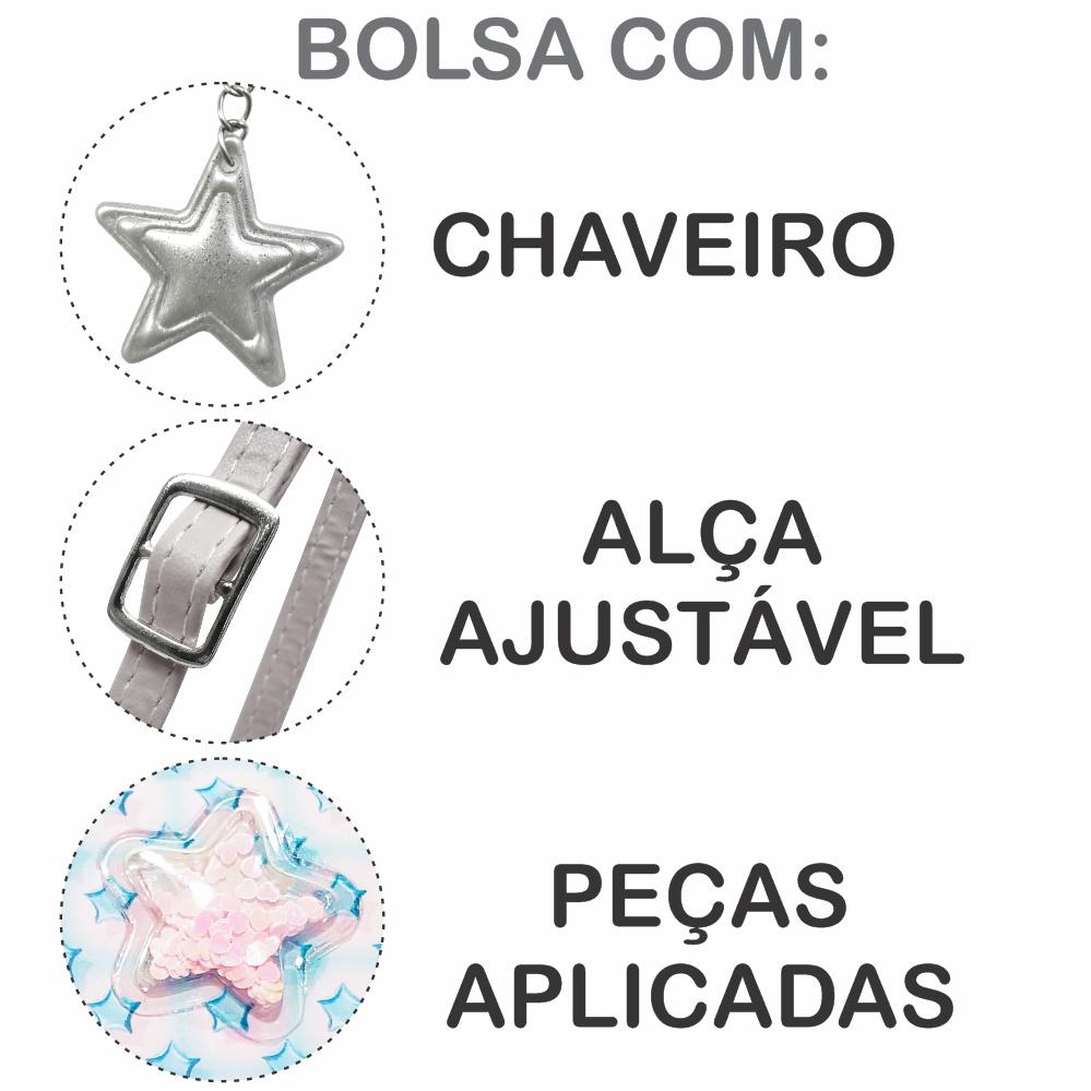 Kit Infantil Bolsa e Estojo Estrelinhas, Magicc Bolsas