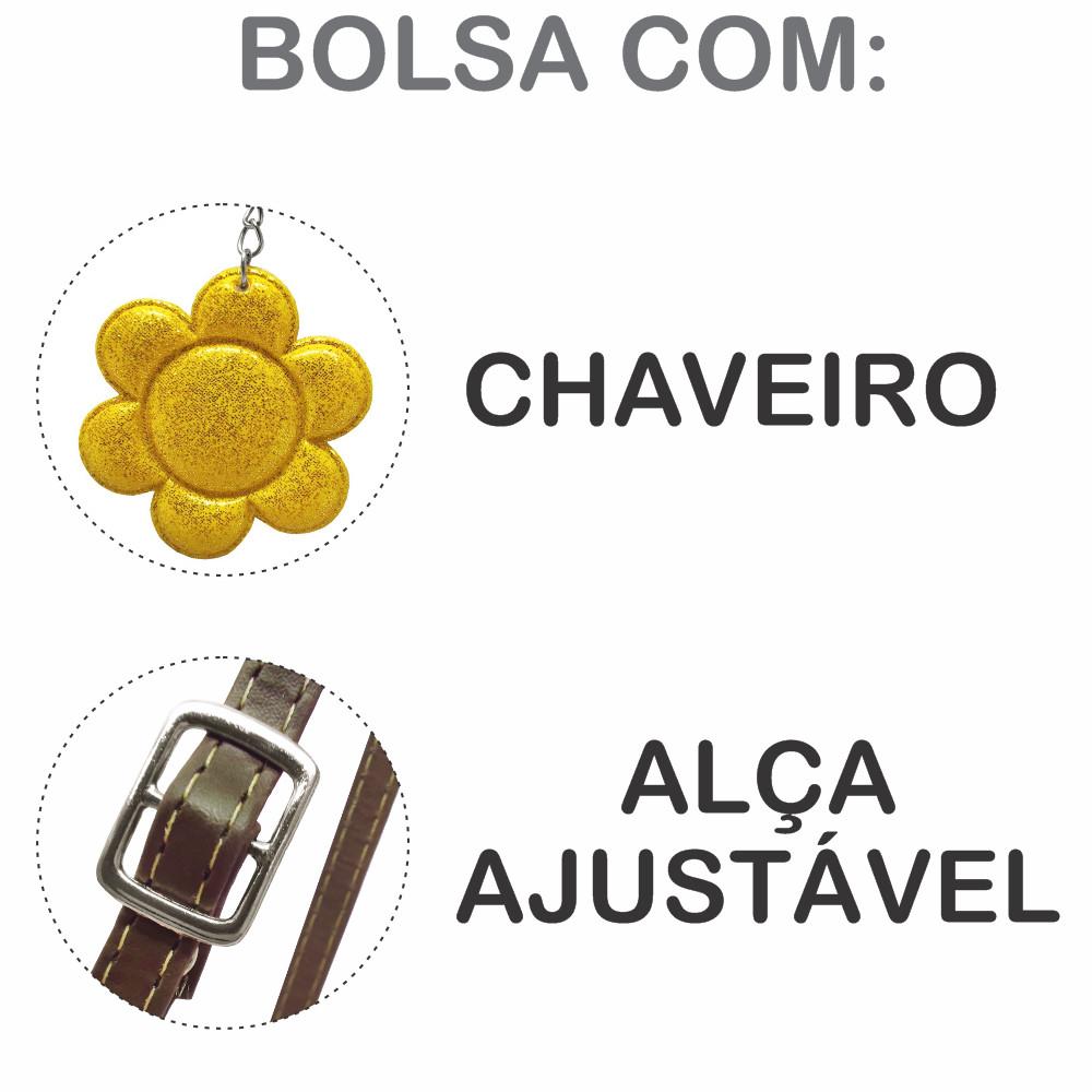 Kit Infantil Bolsa e Estojo Girassol, Magicc