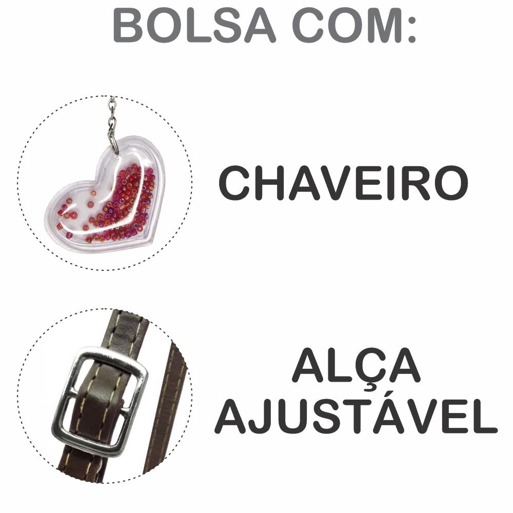 Kit Infantil Bolsa e Estojo Love, Magicc