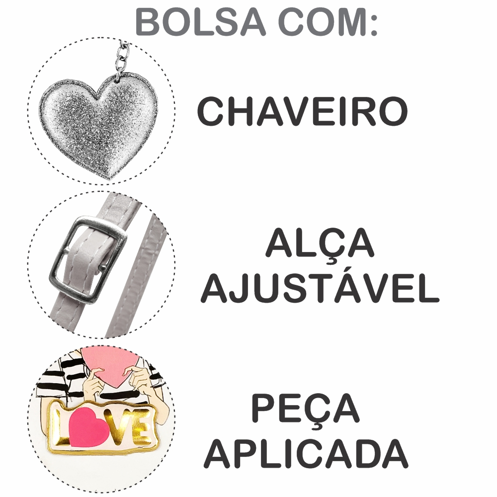Kit Infantil Bolsa e Estojo Love, Magicc Bolsas