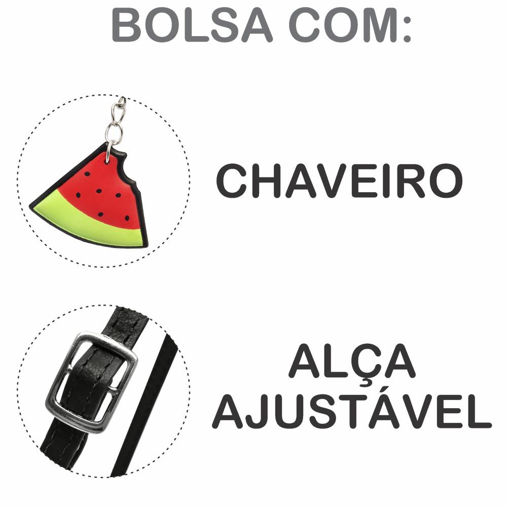 Kit Infantil Bolsa e Estojo Melancia, Magicc Bolsas