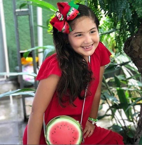 Kit Infantil  Bolsa e Estojo Melancia Redonda, Magicc Bolsa
