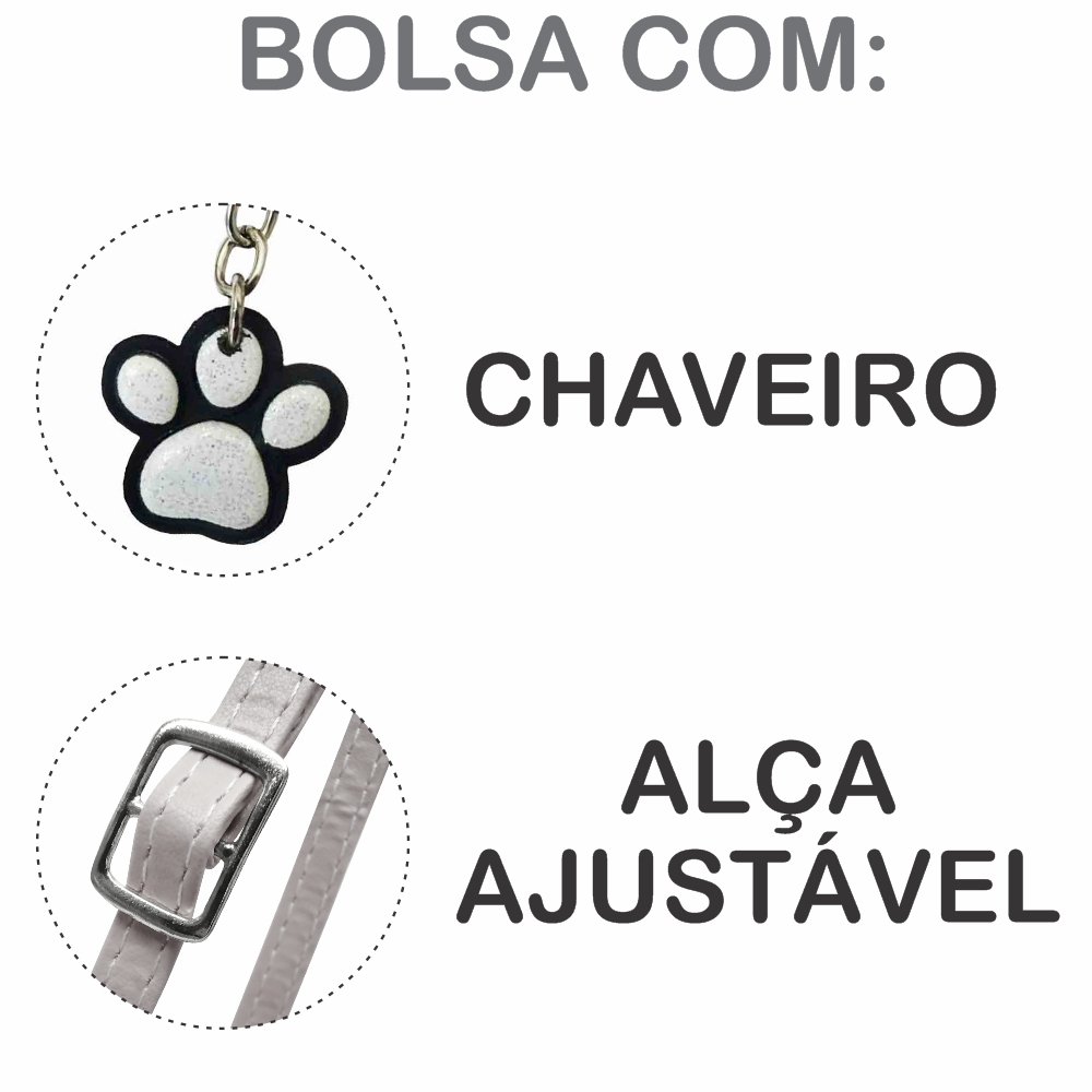 Kit Infantil  Bolsa e Estojo Ovelhinha Feliz, Magicc Bolsas