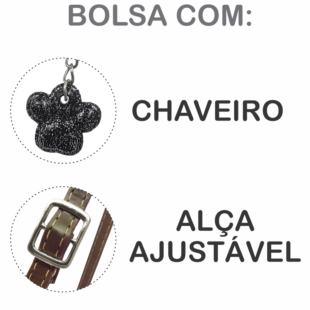 Kit Infantil Bolsa e Estojo Raposinha, Magicc