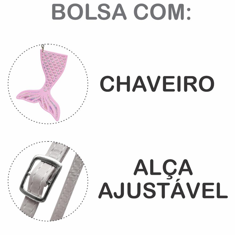 Kit Infantil Bolsa e Estojo Sereia Com Unicórnio, Magicc Bolsas