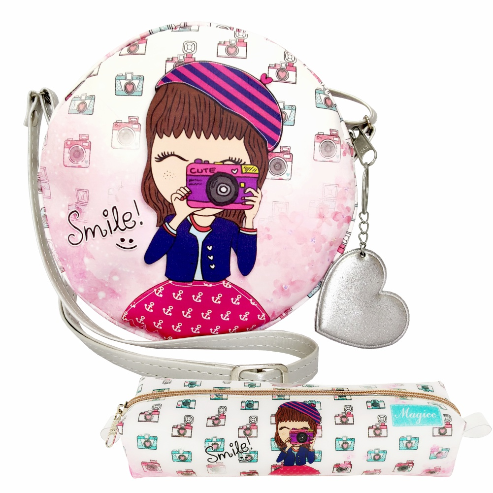 Kit Infantil Bolsa e Estojo Smile, Magicc Bolsas