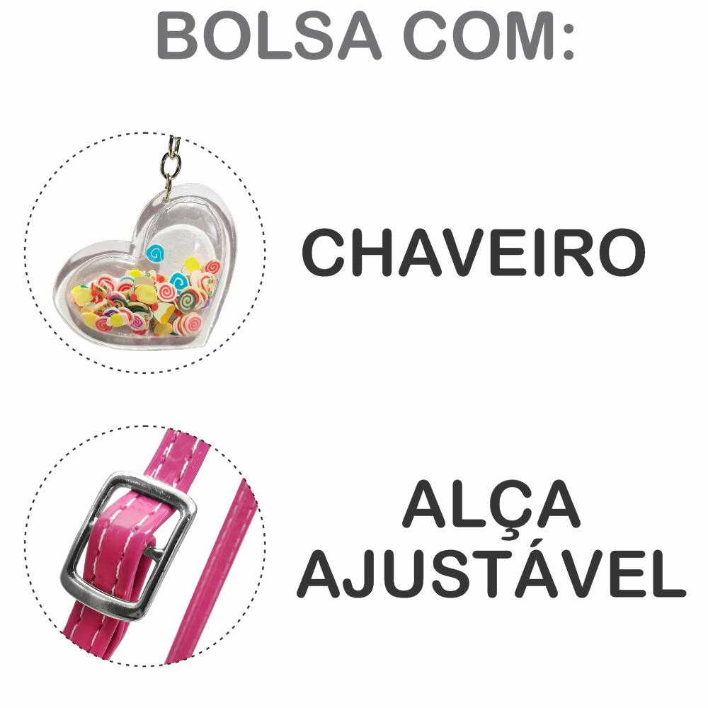Kit Infantil Bolsa e Estojo Sorvetinho Pink, Magicc Bolsas