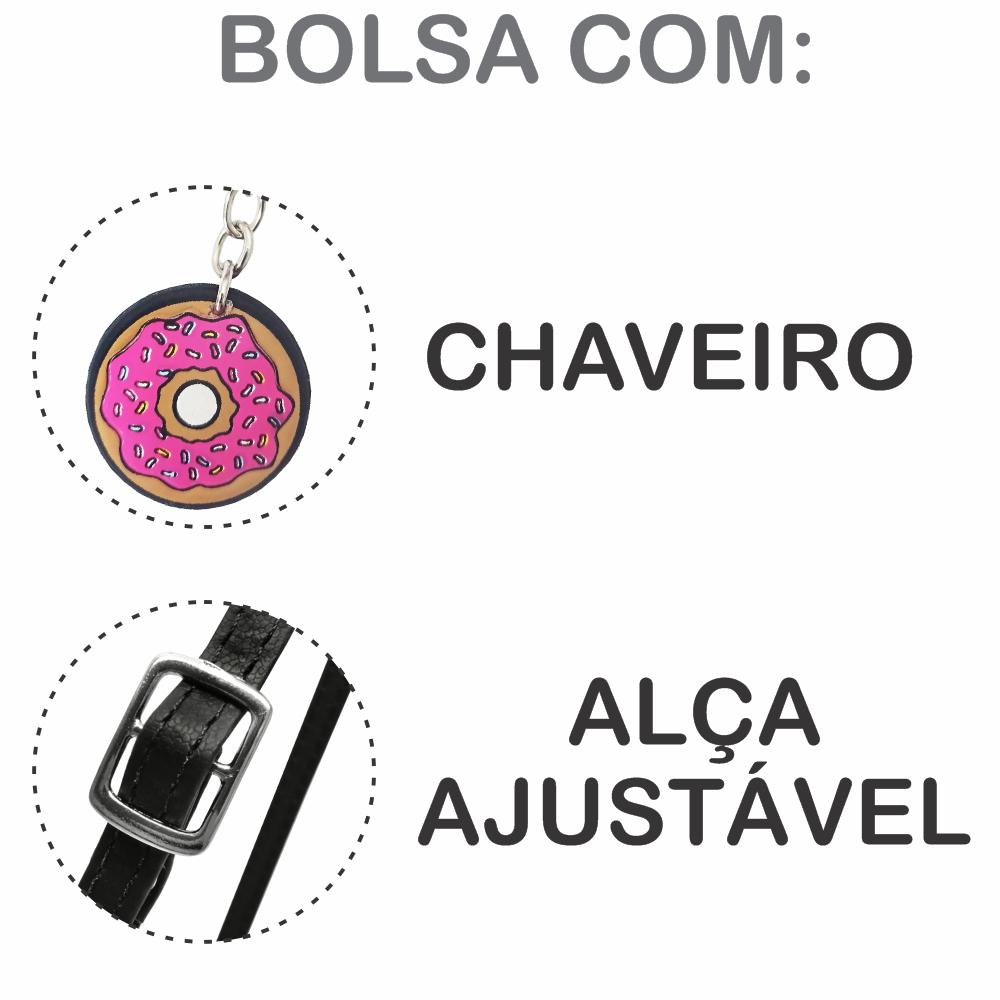Kit Infantil Bolsa e Estojo Stickers Redondo, Magicc Bolsas