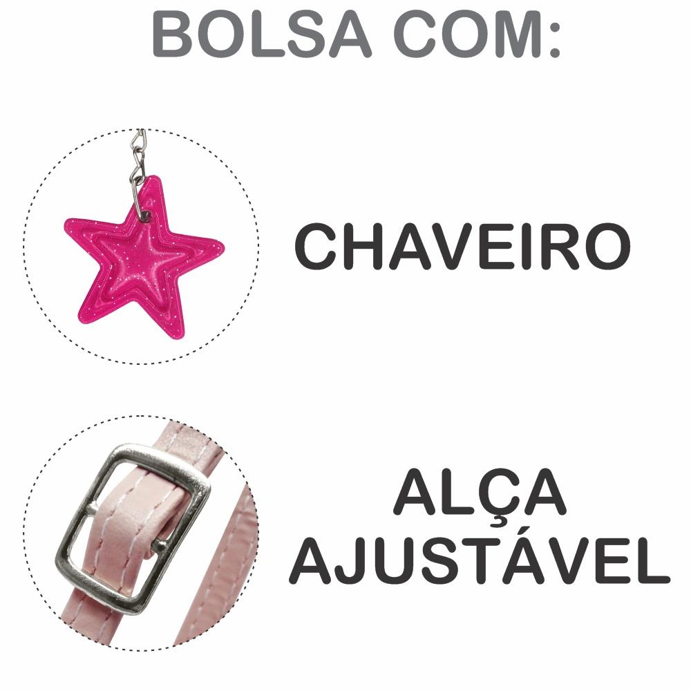 Kit Infantil Bolsa e Estojo Tie Dye Estrelas, Magicc