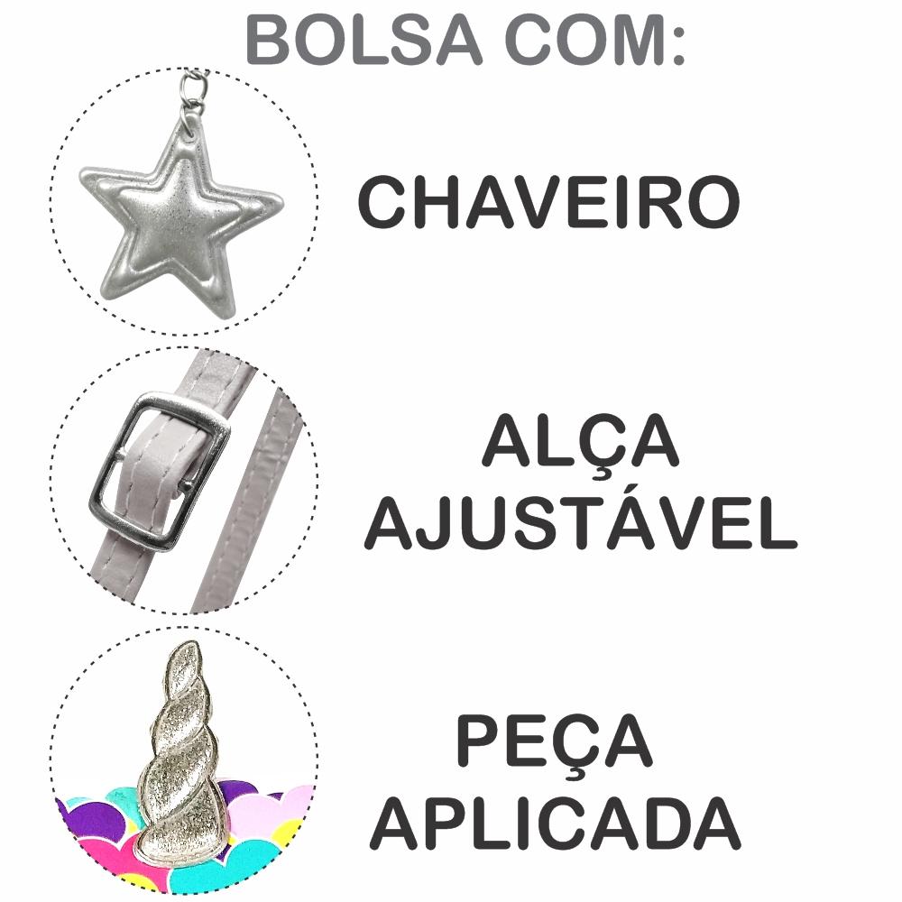 Kit Infantil Bolsa e Estojo Unicórnio Feliz, Magicc Bolsas