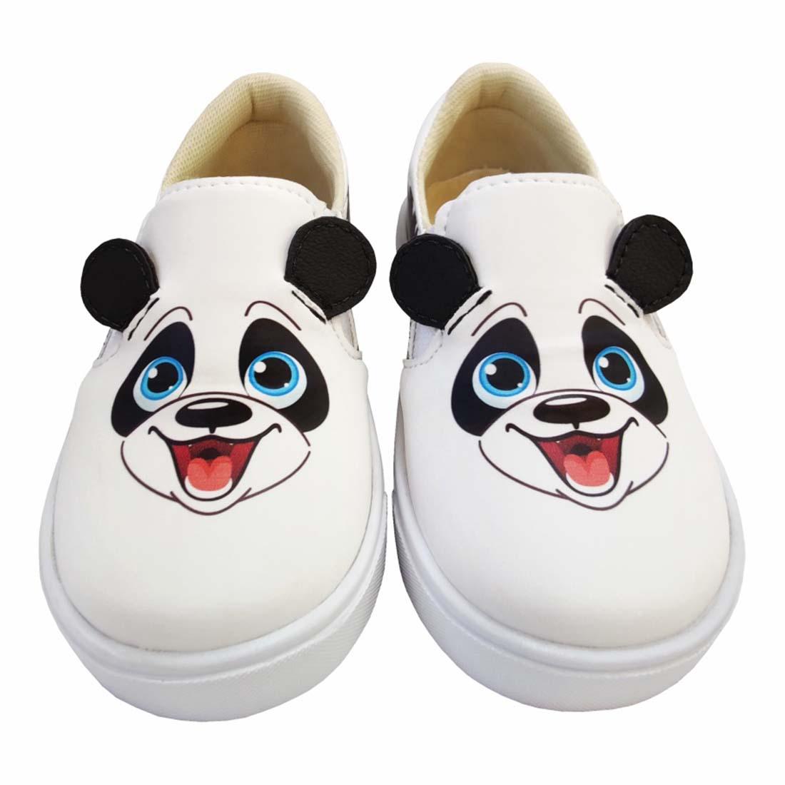 Kit Infantil Bolsa, Tênis e Estojo Panda Feliz, Magicc Kids