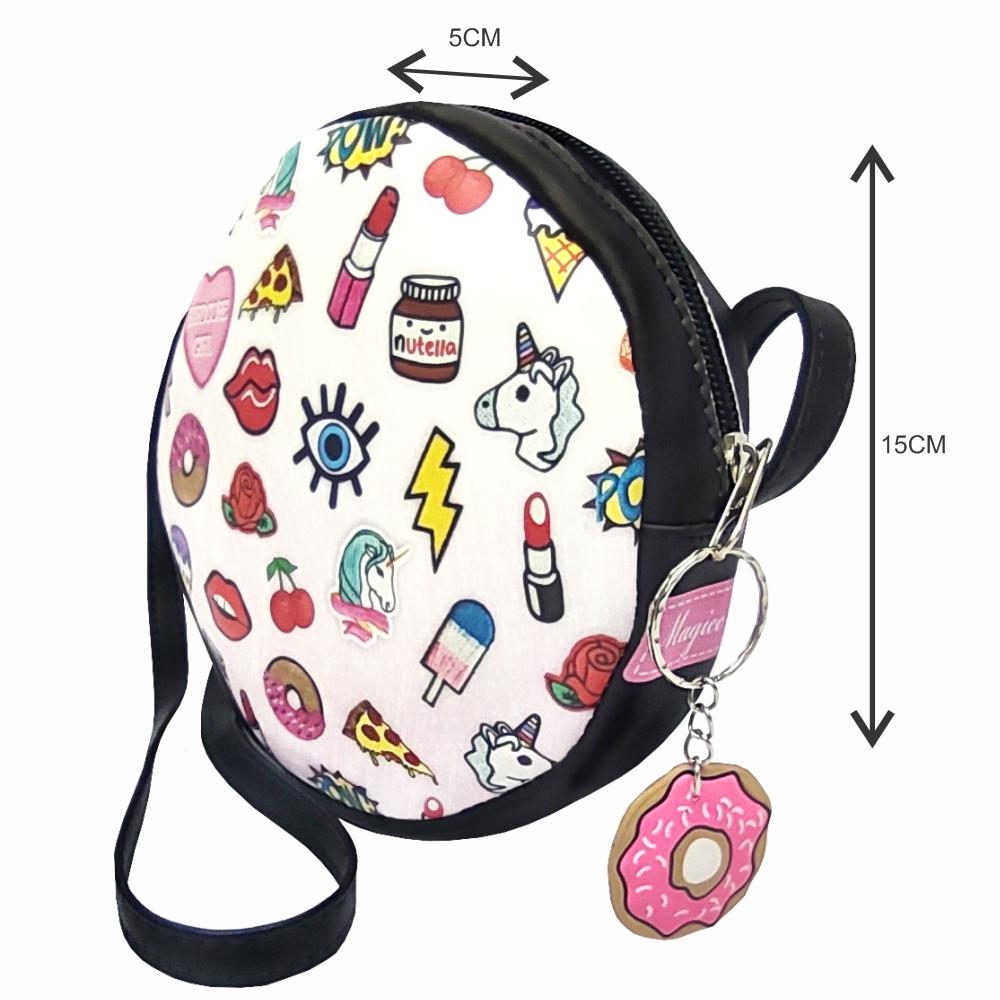 Kit Infantil Bolsa, Tênis e Estojo Stickers Redonda, Magicc Kids