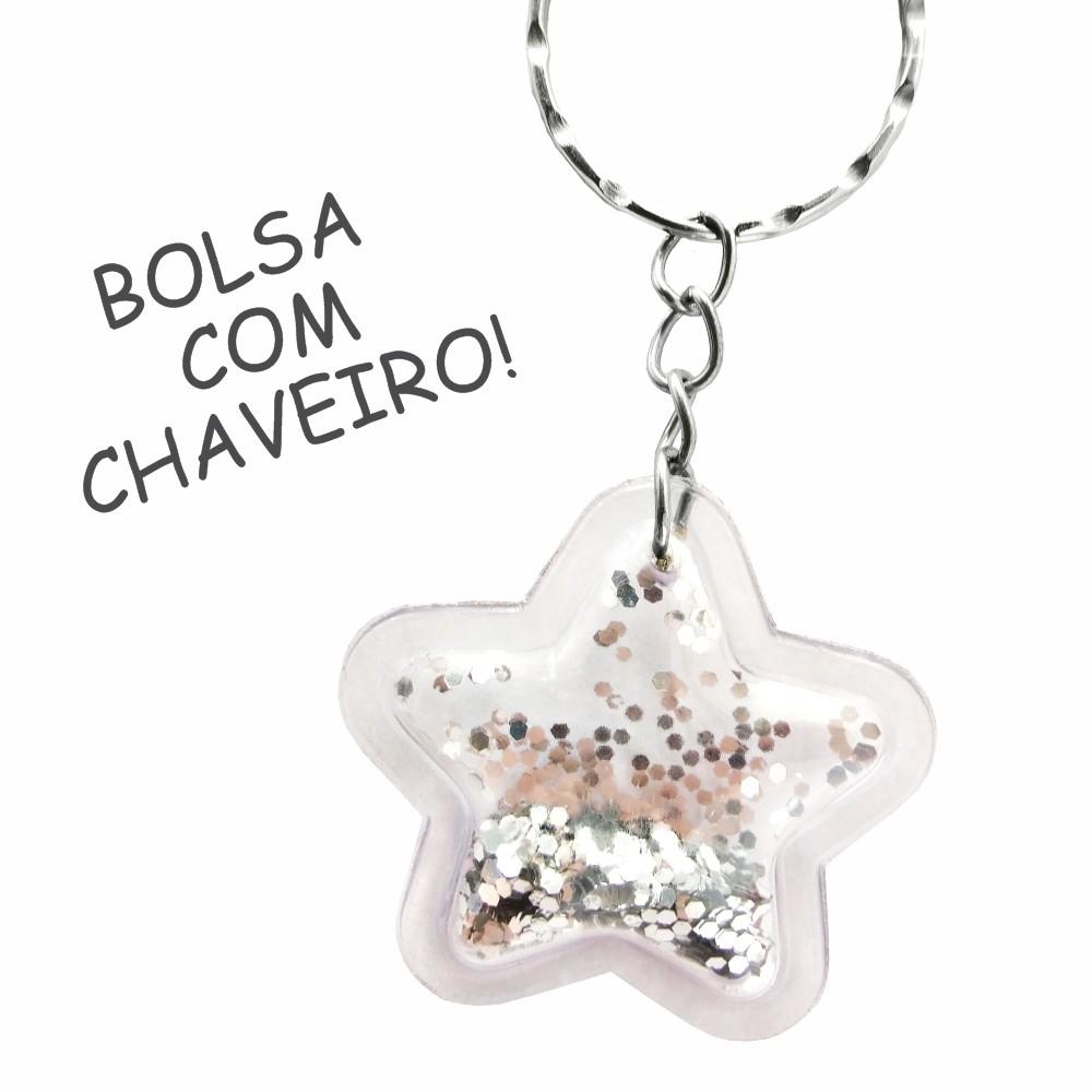 Kit Infantil Feminino Degradê Estrelas Bolsa e Estojo, Magicc