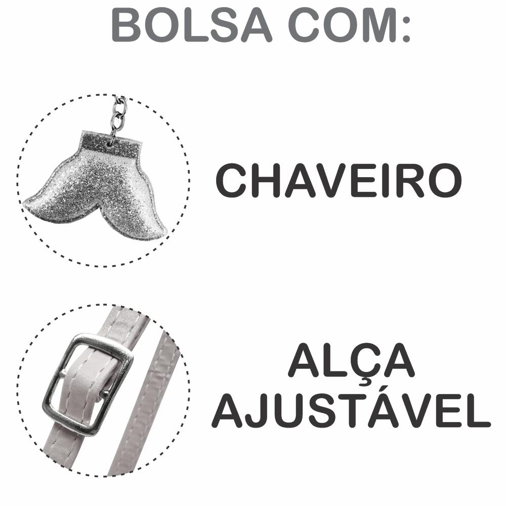 Kit Infantil Feminino Bolsa e Estojo Sereia Feliz, Magicc
