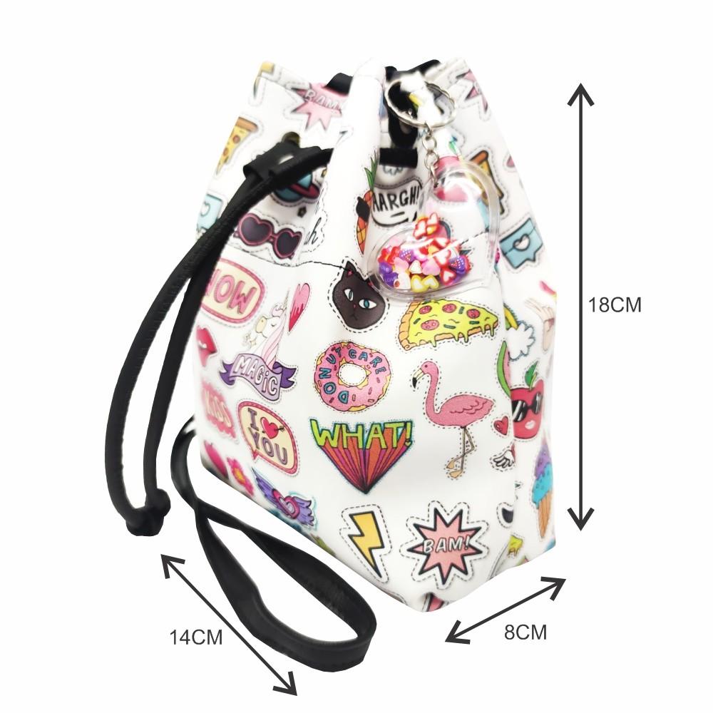 Kit Infantil Feminino Bolsa e Estojo Stickers, Magicc