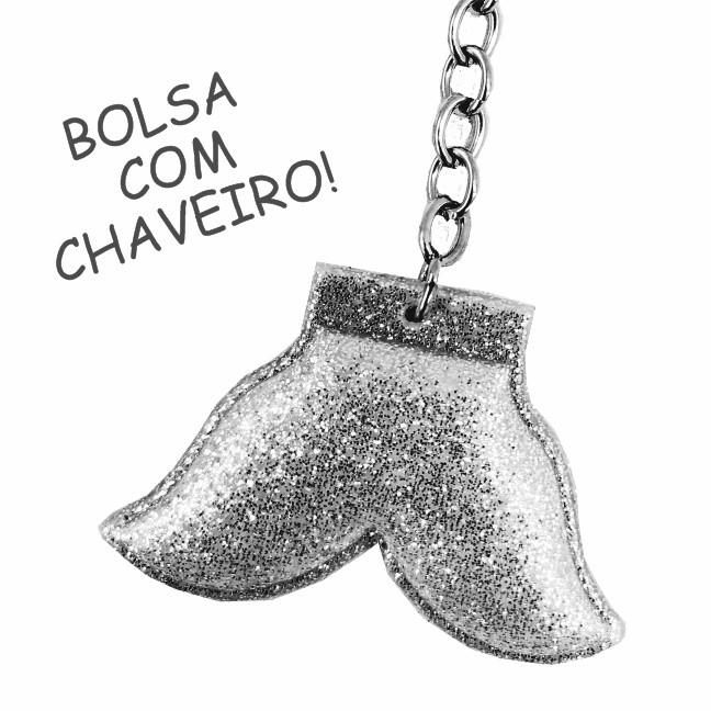 Kit Infantil Feminino Bolsa, Estojo Sereia Feliz, Magicc