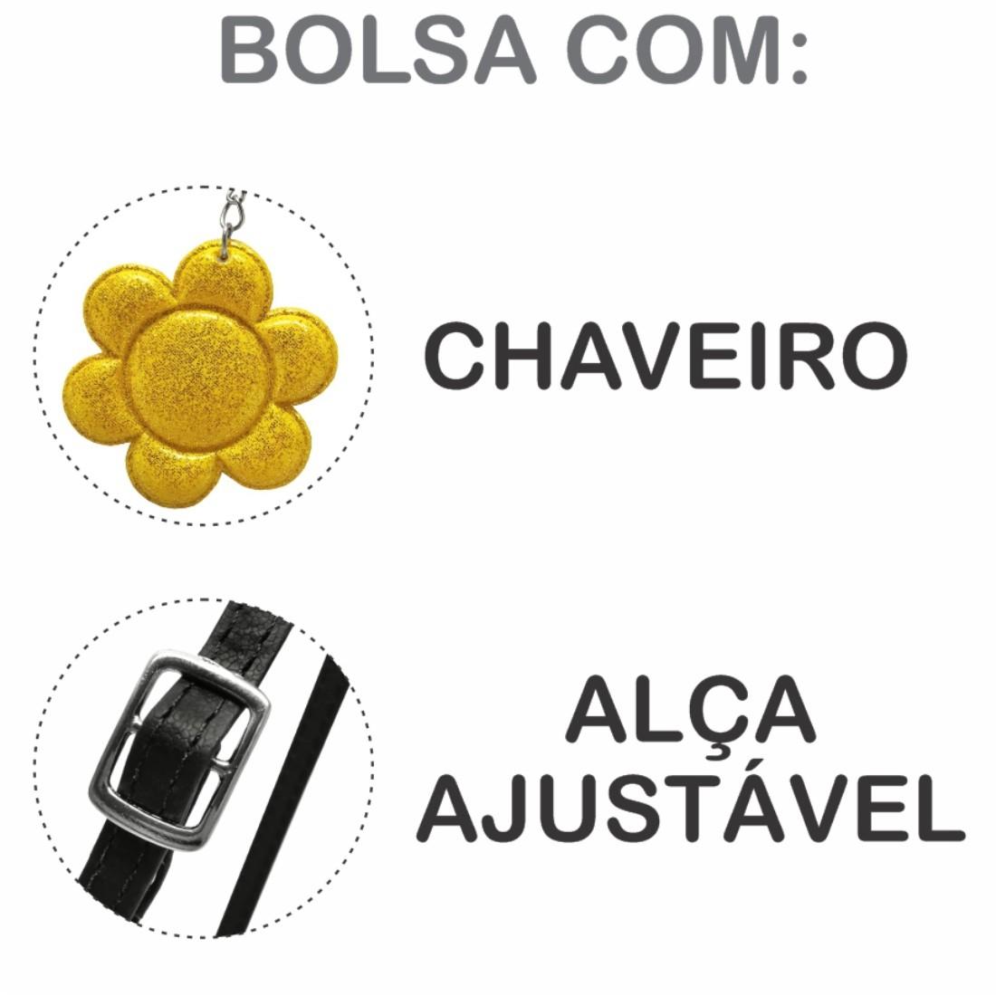 Kit Infantil Feminino Sapatilha, Bolsa e Estojo Abelhinha, Magicc Kids