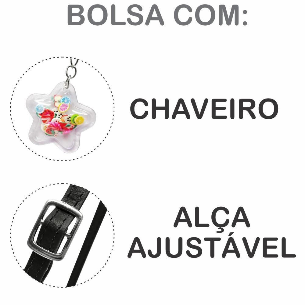 Kit Infantil Feminino Sapatilha, Bolsa E Estojo Frutinhas Kiwi, Magicc Kids
