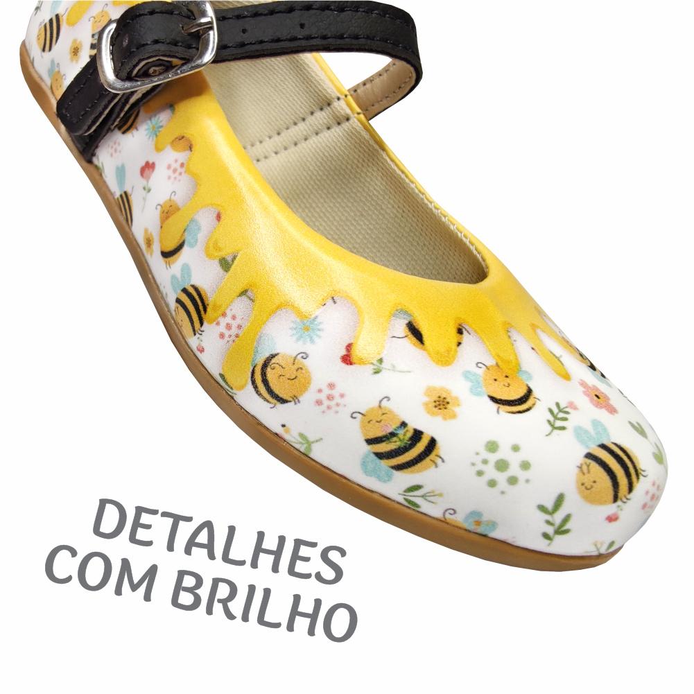 Kit Infantil Feminino Sapatilha e Bolsa Abelhinha, Magicc Kids