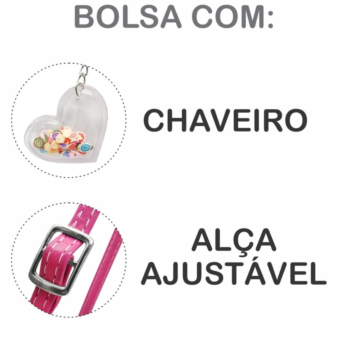 Kit Infantil Feminino Sapatilha e Bolsa Docinhos, Magicc Kids