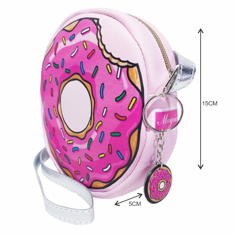 Kit Infantil Feminino Tênis Iate, Bolsa e Estojo Donut's, Magicc Kids