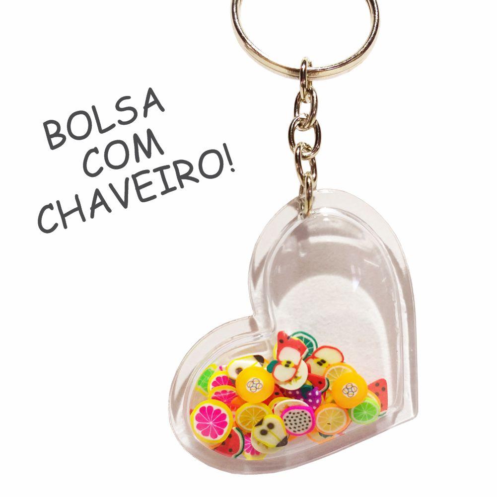 Kit Infantil Laranjinha com Bolsa e Estojo, Magicc Bolsas