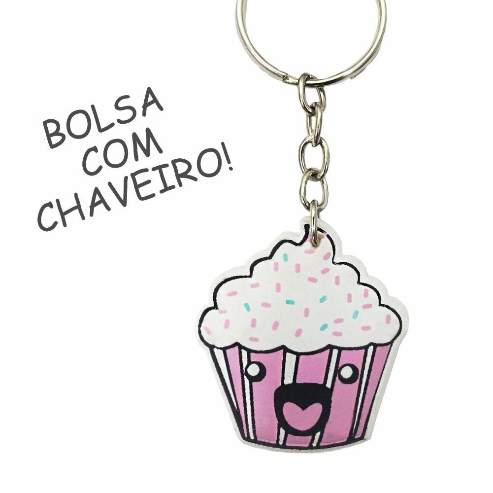 Kit Infantil Pipoquinha com Bolsa e Estojo, Magicc Bolsas