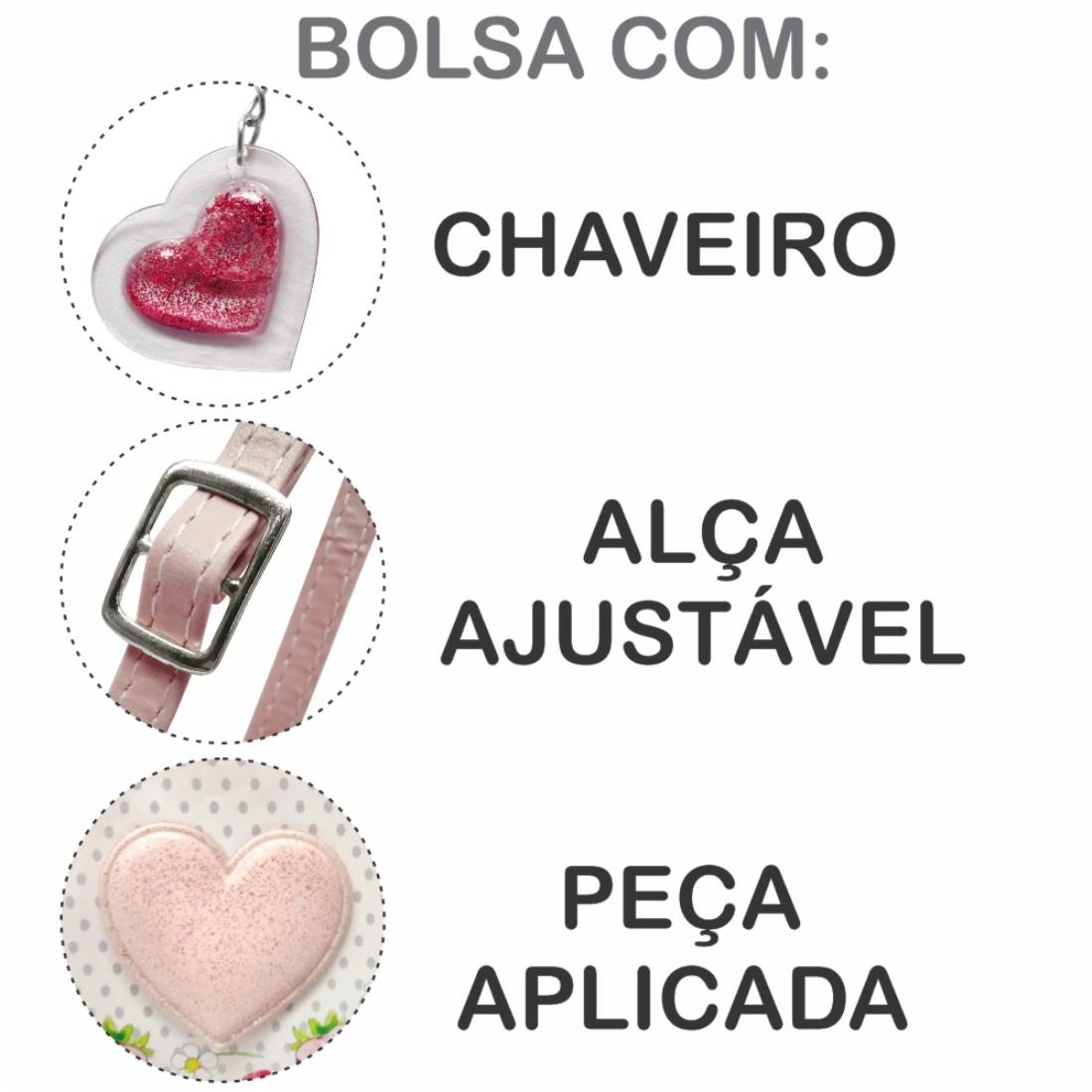 Kit Infantil Sapatilha, Bolsa E Estojo Moranguinhos Coração, Magicc Kids