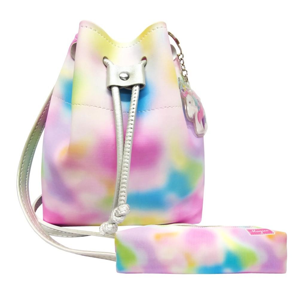 Kit Infantil Bolsa e Estojo Tie Dye Colorido, Magicc Bolsas