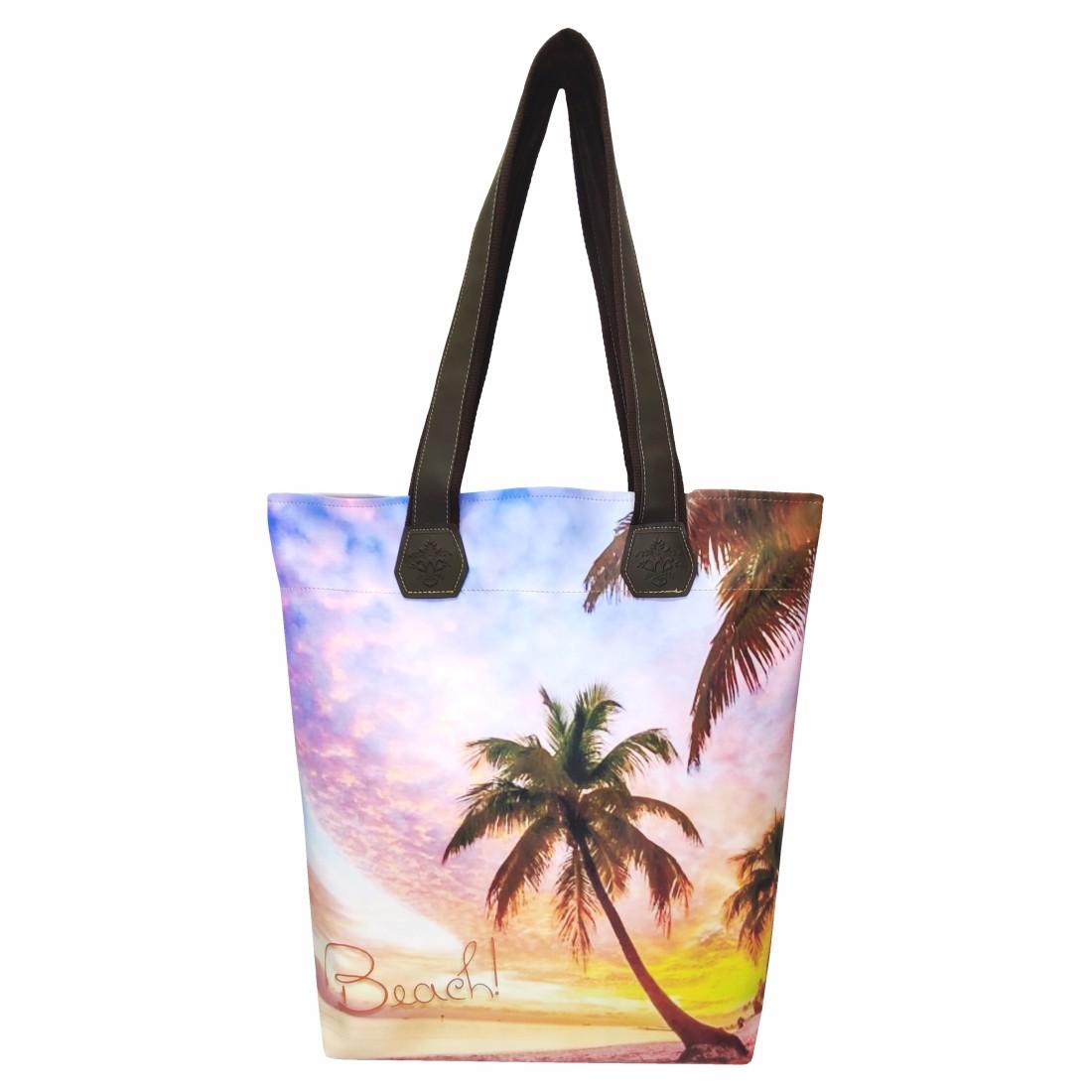 Kit Praia Feminino Beach, Bolsa, Necessaire e Chinelo, Magicc