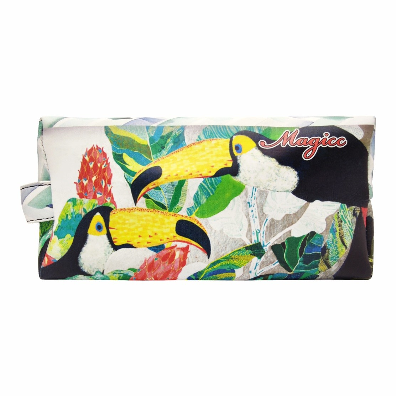 Kit Feminino Tropical Tucanos, Necessaire e Chinelo, Magicc