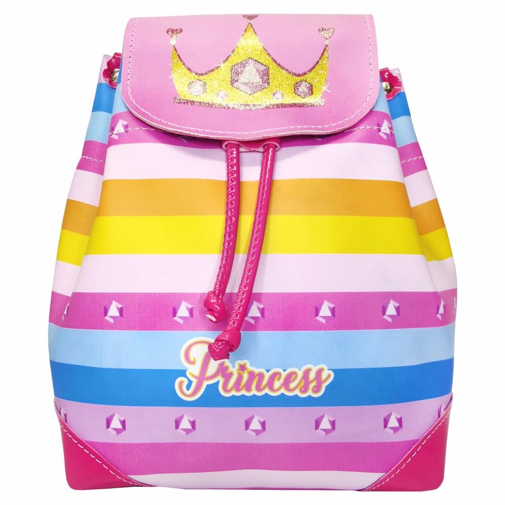 Mochila Bolsa Feminina Infantil Coroa Costas, Magic