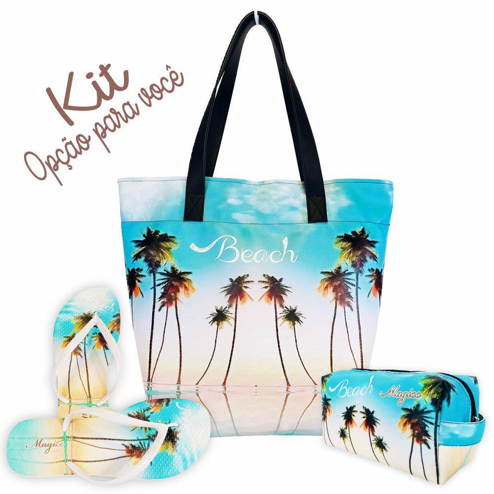 Necessaire Praia Feminina Céu Azul, Magicc