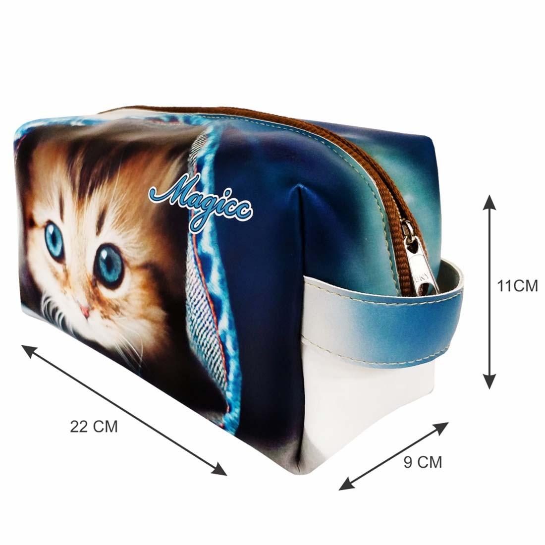 Necessaire Pet Feminina Gatinho Azul, Magicc