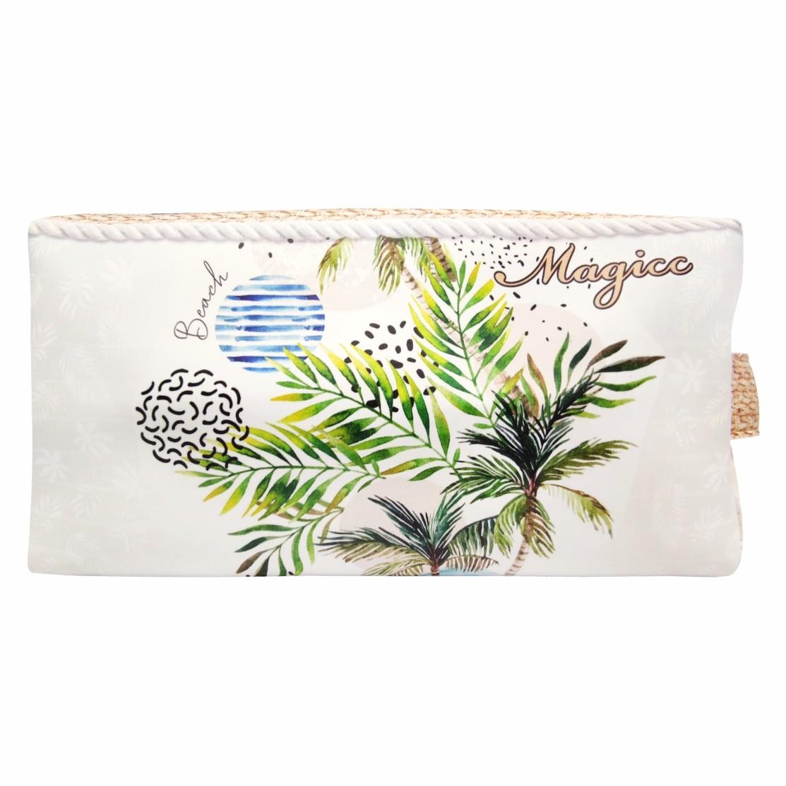 Necessaire Tropical Feminina Coqueiros Tropicais, Magicc