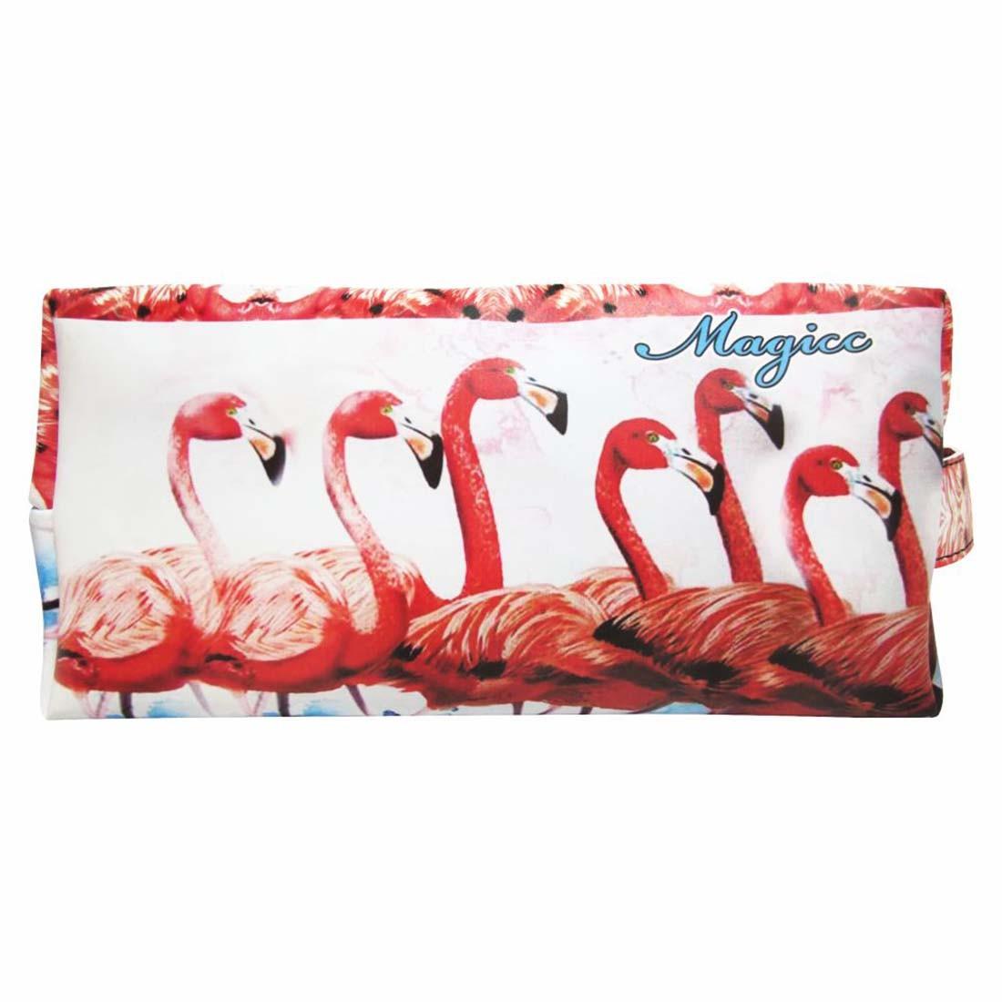 Necessaire Feminina Tropical Flamingos Vermelhos, Magicc