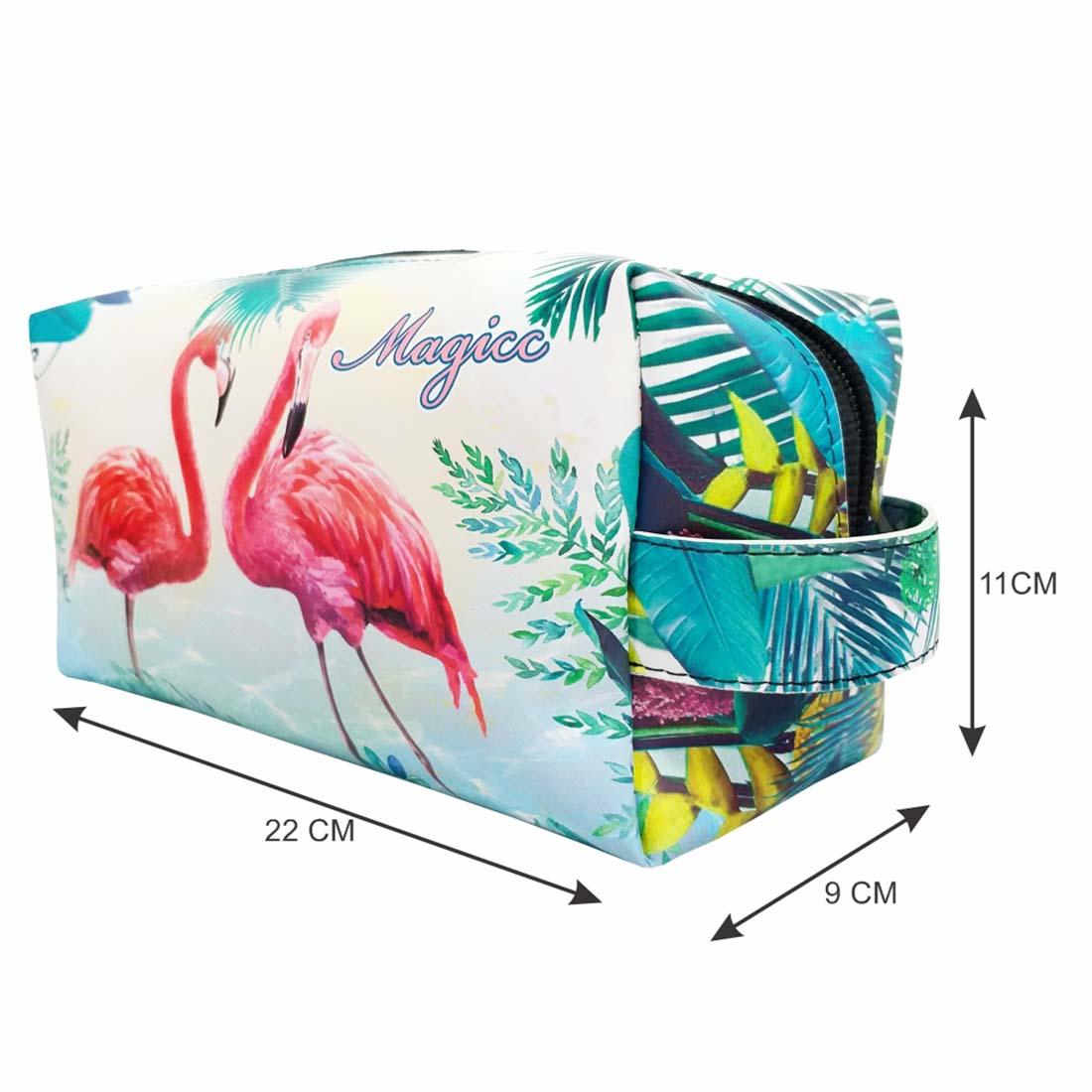 Necessaire Tropical Feminina Flamingos, Magicc