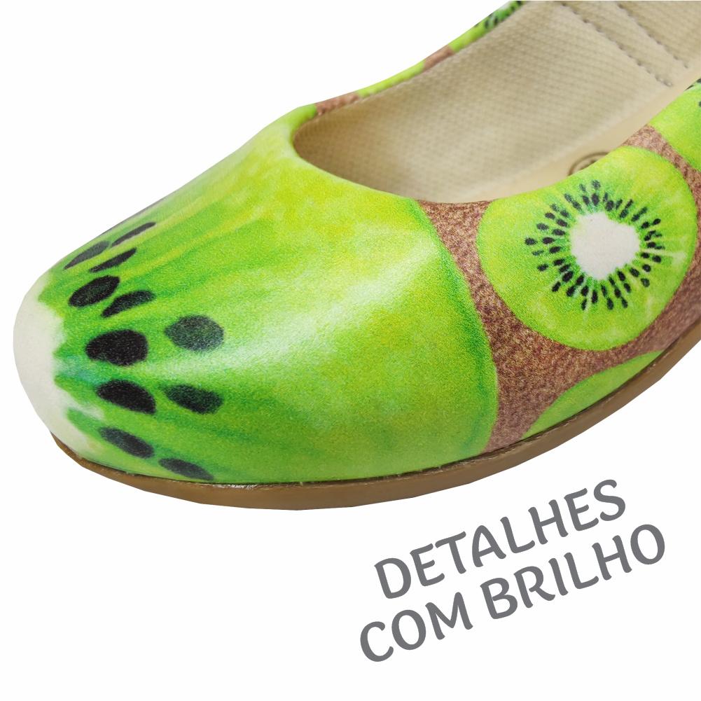 Sapatilha Infantil Feminina Frutinhas Kiwi, Magicc Kids