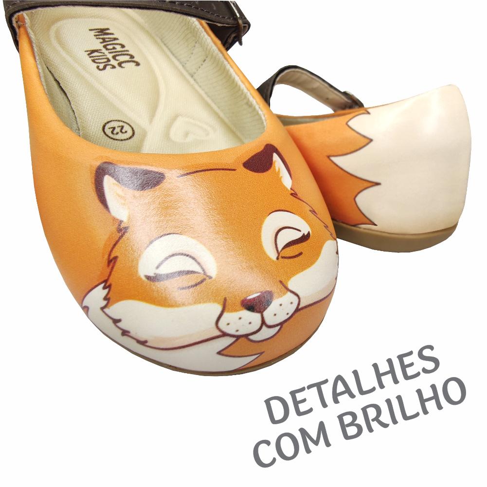 Sapatilha Infantil Feminina Raposinha, Magicc Kids