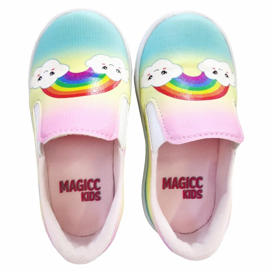 Tênis Infantil Feminino Arco-Íris, Magicc Kids
