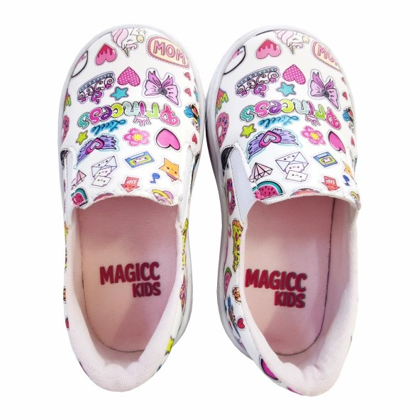 Tênis Infantil Feminino Stickers, Magicc Kids