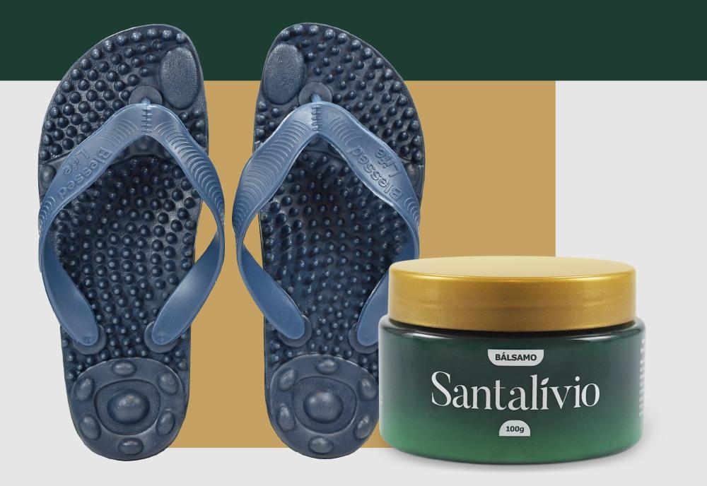 Kit Bálsamo Santalívio + Chinelo Santalívio Reflex