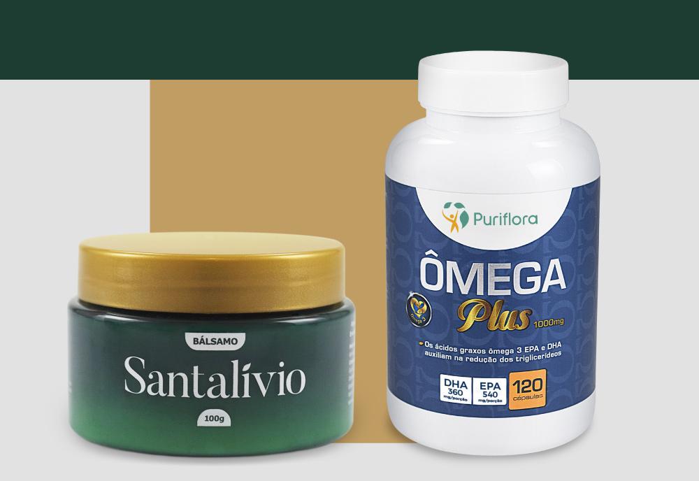 Kit Bálsamo Santalívio + Ômega Plus