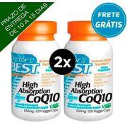 2X CoQ10 (Coenzima Q10) 100 mg com BioPerine - Doctor's BEST - (TOTAL DE 240 Cápsulas vegetarianas)