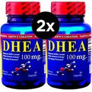 2X DHEA 100 mg - Earth´s Creation - 60 Cápsulas