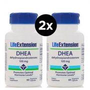 2x Dhea Life Extension 100 mg, 60 Capsulas