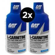 2X GAT, L-Carnitina, Aminoácido na Forma Sem Líquidos, Framboesas Azuis
