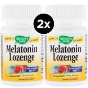 2X Melatonina de Pastilhas, Nature's Way, 2,5 mg, 100 Drágeas